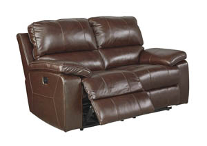 Transister Coffee Power Reclining Loveseat w/Adjustable Headrest