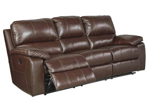 Transister Coffee Power Reclining Sofa w/Adjustable Headrest,Signature Design by Ashley