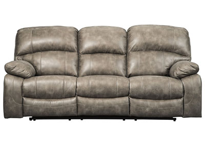 Dunwell Driftwood Power Recliner Sofa w/Adjustable Headrest
