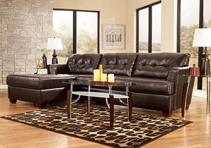Dixon DuraBlend Chocolate Chaise Sectional,Signature Design By Ashley