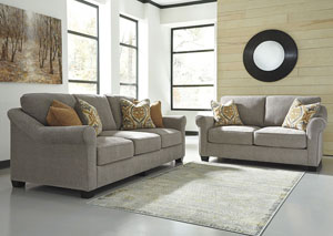 Leola Slate Sofa and Loveseat