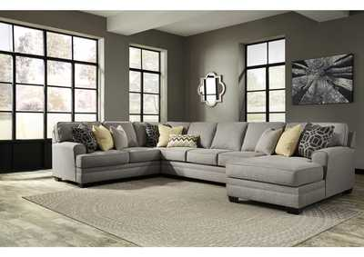 Cresson Pewter Right Facing Corner Chaise Sofa Sectional