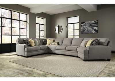 Cresson Pewter Left Facing Loveseat Sofa Sectional
