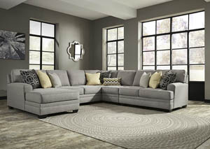 Cresson Pewter Right Facing  Loveseat Corner Chaise Sectional