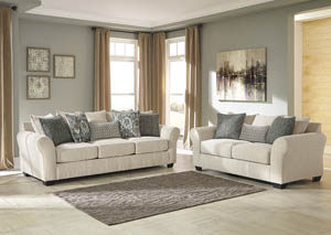 Silsbee Sepia Sofa and Loveseat