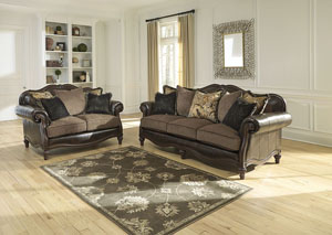 Winnsboro DuraBlend Vintage Sofa and Loveseat
