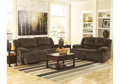 Toletta Chocolate Reclining Power Sofa & Loveseat