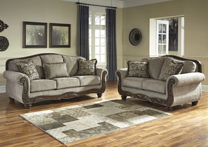 Cecilyn Cocoa Sofa and Loveseat