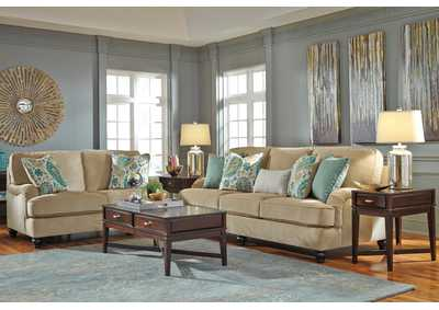 Lochian Bisque Sofa & Loveseat