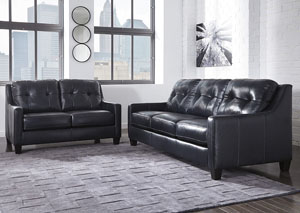 O'Kean Navy Sofa and Loveseat