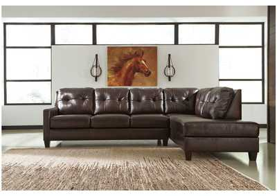 O'Kean Mahogany Right Facing Corner Chaise Sectional