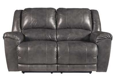 Persiphone Charcoal Power Reclining Loveseat