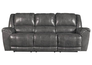 Persiphone Charcoal Power Reclining Sofa