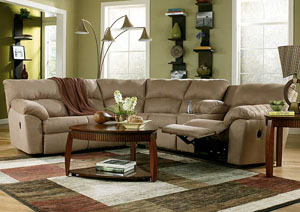 Amazon Mocha Reclining Sectional,Signature Design by Ashley