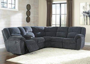 Timpson Indigo Right Facing Double Reclining Loveseat Sectional