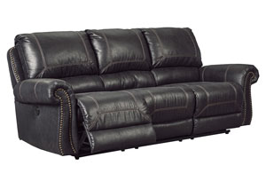 Milhaven Black Reclining Power Sofa