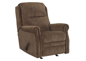 Earles Flannel Rocker Recliner