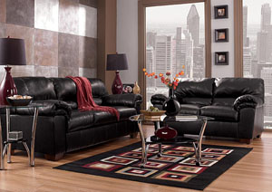 Commando Black Sofa & Loveseat