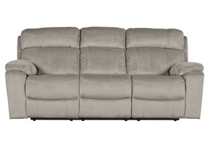 Uhland Granite Power Reclining Sofa w/Adjustable Headrest