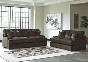 Bisenti Chocolate Sofa and Loveseat