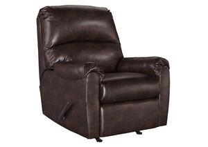 Talco Burgundy Rocker Recliner