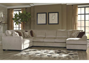 Hazes Fleece Right Facing Corner Chaise Sectional w/Left Facing Loveseat