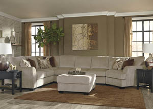Hazes Fleece Sectional w/Right Facing Cuddler