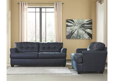 Inmon Navy Sofa and Loveseat