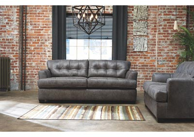 Inmon Charcoal Sofa and Loveseat