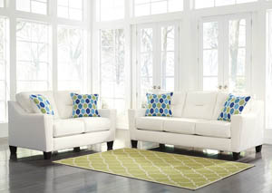Forsan Nuvella White Sofa and Loveseat