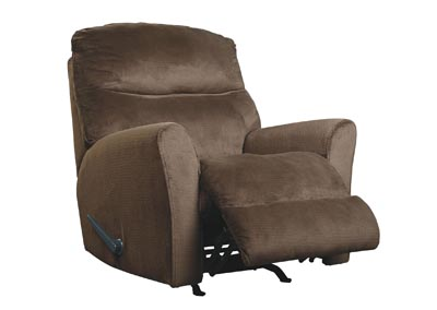 Cossette Chocolate Rocker Recliner