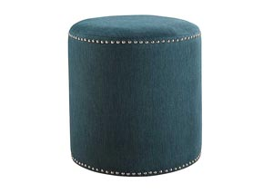 Revel Teal Accent Ottoman,Signature Design by Ashley