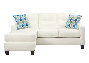 Aldie Nuvella White Queen Sofa Chaise Sleeper