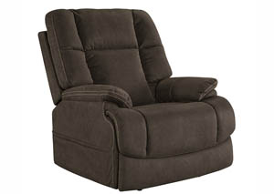 Fourche Bark Power Recliner w/Adjustable Headrest