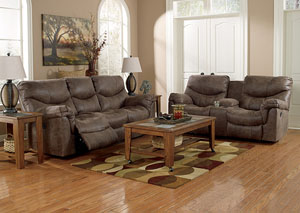 Alzena Gunsmoke Reclining Sofa & Loveseat,Signature Design by Ashley