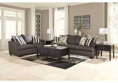 Levon Charcoal Sofa & Loveseat,Signature Design by Ashley