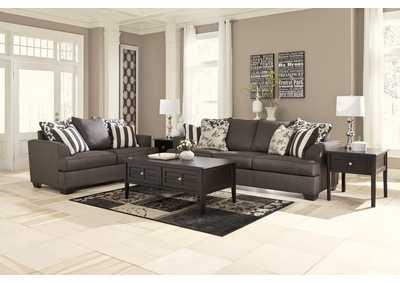 Beautiful Levon Charcoal Sofa U0026 Loveseat