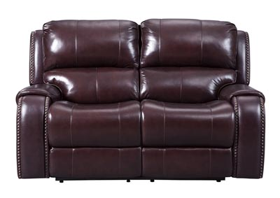 Gilmanton Burgundy Power Reclining Loveseat w/Adjustable Headrest,Signature Design by Ashley