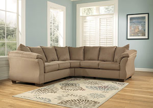 Darcy Mocha Sectional,Signature Design by Ashley