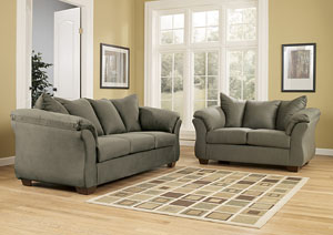 Darcy Sage Sofa & Loveseat,Signature Design by Ashley
