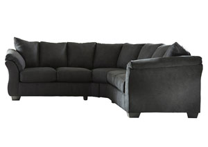 Darcy Black Loveseat Sectional,Signature Design by Ashley