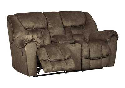 Capehorn Earth Double Reclining Loveseat w/Console
