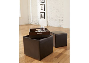 Cubit Chocolate Ottoman w/ Flip Top