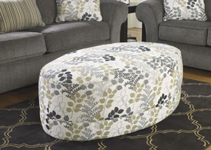 Makonnen Charcoal Oversized Accent Ottoman,Signature Design by Ashley