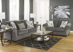 Makonnen Charcoal Sofa & Loveseat