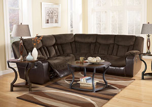 Tafton Java Reclining Sectional,Signature Design by Ashley
