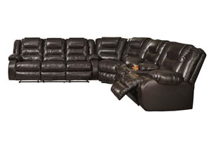 Vacherie Chocolate Reclining Sectional