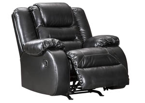 Vacherie Black Rocker Recliner