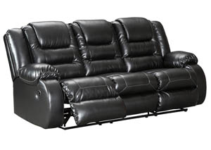 Vacherie Black Reclining Sofa