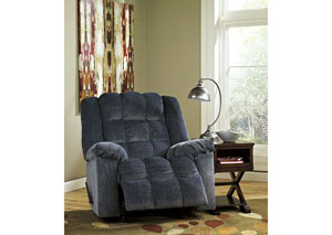 Ludden Blue Power Rocker Recliner